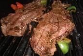 Carne a la plancha o asada