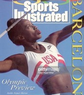 Jackie in  front cover of Sports Illustrated