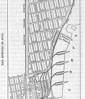 Street layout in the town of Pullman