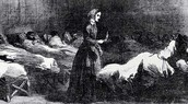 Florence Nightingale at the Hospital during The Crimean war