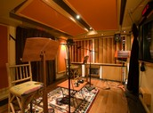 The sound booth