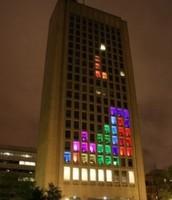 Tetris on MIT building