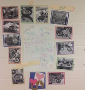 Our worm inquiry displayed in hallway