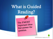 List 5 most important points of Guided Reading
