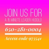 Senior Stylist+ Leader Huddle with Cindy is TODAY!