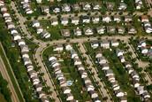 What suburban houses look like