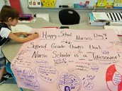 Celebrating School Nurse's Day in Ms. Bostic's Class