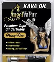Kava Vape Oil Cartridge by AngelVaPur Plus Battery – Honey Dew Kava