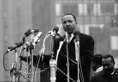 He gave a speech for civil rights