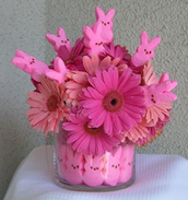 Arrangements made with egg cartons, candy or Easter baskets are common.