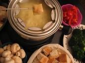Swiss Fondue au Fromage