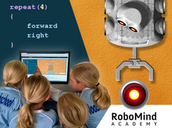 Program a virtual robot by RoboMind Academy
