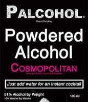 Powdered form of alcohol