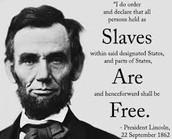 Lincoln Ending Slavery.