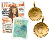 """Initial """"S"""" charm- Gold"""