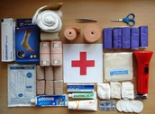5. Now you need make a survival kit you need to include . Gauze,triangular bandages, safety  pins , scissors, tweezers , and rash cream