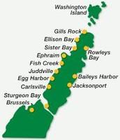 Door County Map