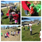 "Ms. Stover's PreK Panthers ""Going Green"" as they clean up, sort, & recycle trash on the campus!"