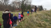 Ms. Annie's class utilizing our great Edgewood nature trail - try it out with your class if you haven't yet
