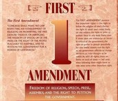 Amendment #1 Freedom of Speech