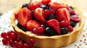 Delicious tripple berry tart