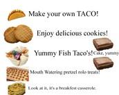 Enjoy delicious foods!