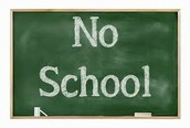 No School Wednesday-Friday