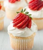 Angle food cupcake