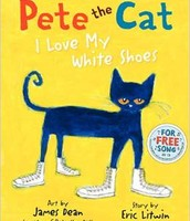 "28"" Pete the Cat doll & 2 hardcover books"