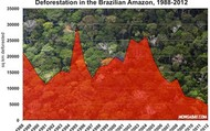 Deforestation In Brazilian Amazon 1988-2012