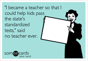 NOT why we became teachers!