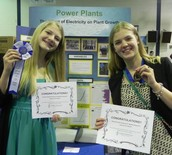 2nd Place Winner in Botany Middle School Category- Kendal Coldren (pictured left)