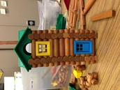 Built a log house with them