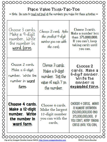 Choice boards menus tic tac toe word work tic tac toe pronofoot35fo Choice Image