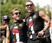 Mario Götze y Lukas Podolski