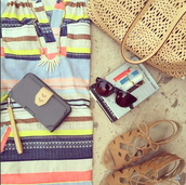 Hit the Beach in Style with the Blush Avalon Tote (now available in black) & New Tech Wallet for iPhone 6