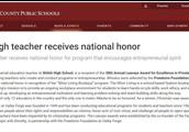 Hip Hip Hooray for Shiloh High Teacher