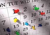 Put it on the Calendar!