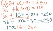 Socks For Class (Multi-Step Equation With Distributive Property)