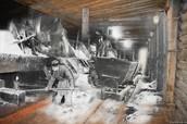 Выварка соли в соляной варнице
