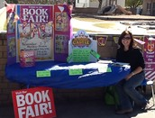 Promoting the fall Book Fair at the Fall Festival.