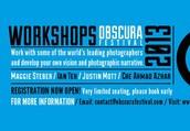OBSCURA Workshops begin next week!