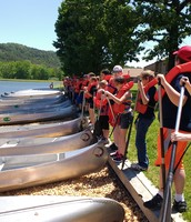 Preparing to canoe
