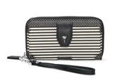 Madison Tech Wallet - Black/Cream Breton Stripe