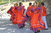a group of ladys dancing