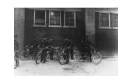 Eight Soldiers with bicycles @ Francis E Warren Base