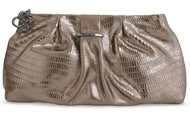 La Coco Clutch leather Metalic