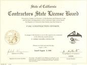 Architect license