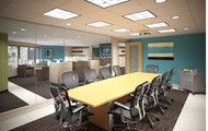 One of three conference rooms