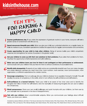 10 tips for raising happy kids